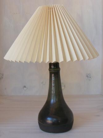 lamp-ceramic-dark-green-glazed